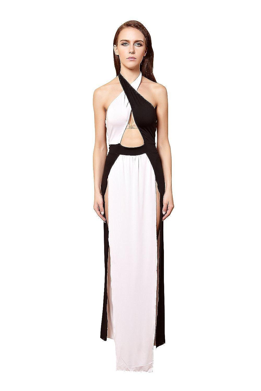 YiYiFS® Frauen schließen Nachtwäsche Nachtclub über Knie Ärmelloses Kleid ED102