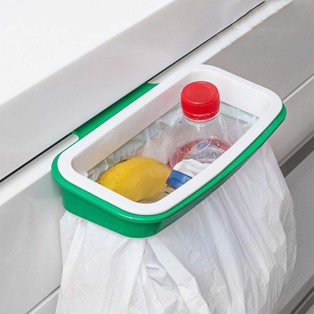 Soporte Bolsa Basura Reciclaje Sustituto Cubo Cocina Colgar Armario Bolsas Plástico Almacenamiento: Amazon.es: Hogar