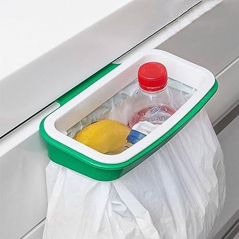 Soporte Bolsa Basura Reciclaje Sustituto Cubo Cocina Colgar Armario Bolsas Plástico Almacenamiento