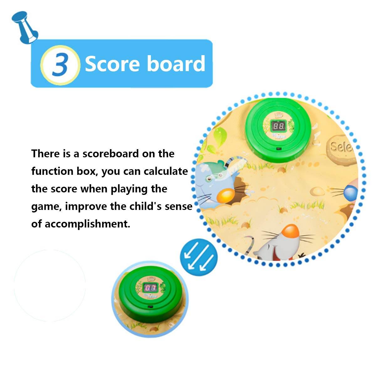 Playing Hamster Game Blanket, Kids Electronic Music Play Mat Security Electronic Keyboard Play Blanket Ideal Toys and Gifts for Children by Eustoma (Image #8)
