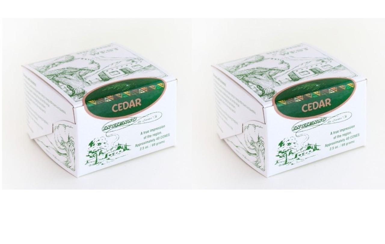 Cedar Wood Incense - 40 Bricks (Cones) - Incienso De Santa Fe TRTA000519