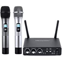 Mbuynow UHF Dual Channel Professional Wireless Microphone System