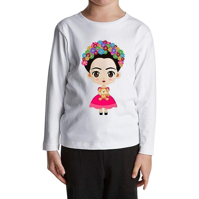ZMLIA Frida Kahlo - Playera de Manga Larga con Cuello Redondo Unisex ... 4e63bdcf0cccf