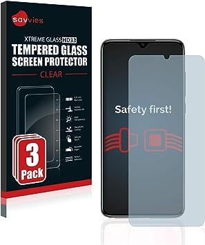 savvies Cristal Templado Compatible con Xiaomi Mi 9 Lite (3 Unidades) Protector Pantalla Vidrio Proteccion 9H Pelicula Anti-Huellas: Amazon.es: Electrónica