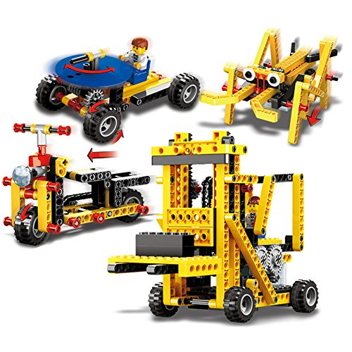Loowan Electric Assembly Building Blocks Kit 4-in-1 Children's Educational Toys 292 Pieces