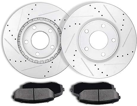 Ceramic Pads 2007 2008 Ford Edge 2007-2009 Lincoln MKX Front Rear Brake Rotors