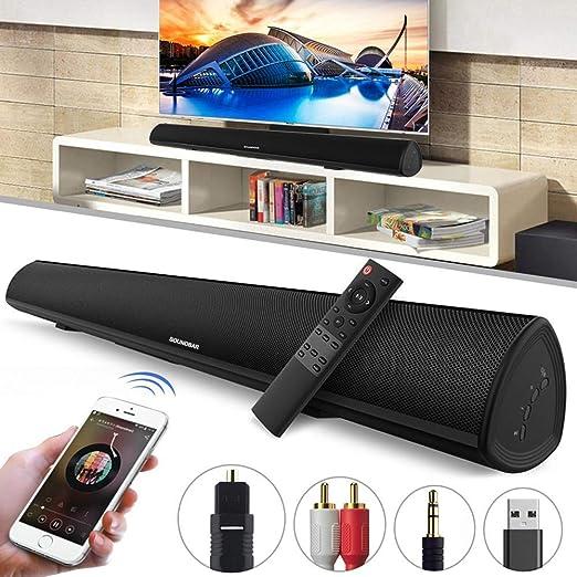 Barra de sonido para TV, 34 pulgadas de altavoces Bluetooth, 2.0 ...
