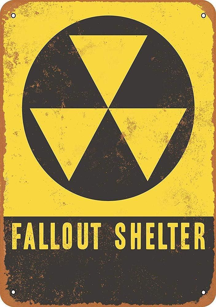 JOHUA Fallout Shelter Blechschilder Warnschild Metallposter Eisen Kunst Retro Zeichen Promi Malerei Geb/äude Garten Bauernhof Cafe Bar als Geschenk