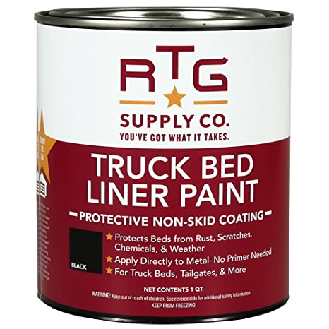 Amazon Com Rtg Truck Bed Liner Paint Black Quart Automotive