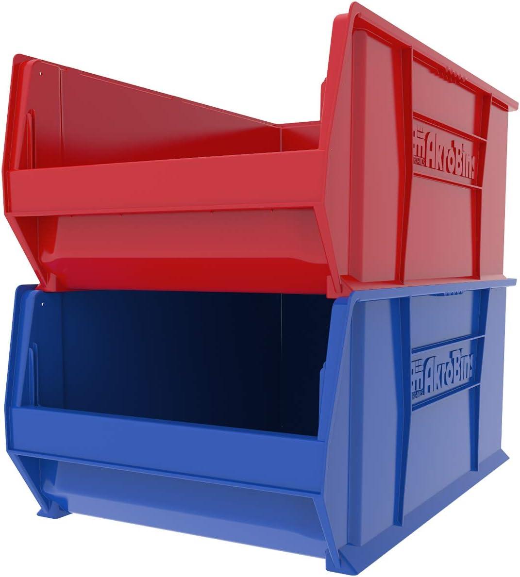 Akro-Mils 30290 29-Inch D by 18-Inch W by 12-Inch H Super Size Plastic Stacking Storage Akro Bin Blue
