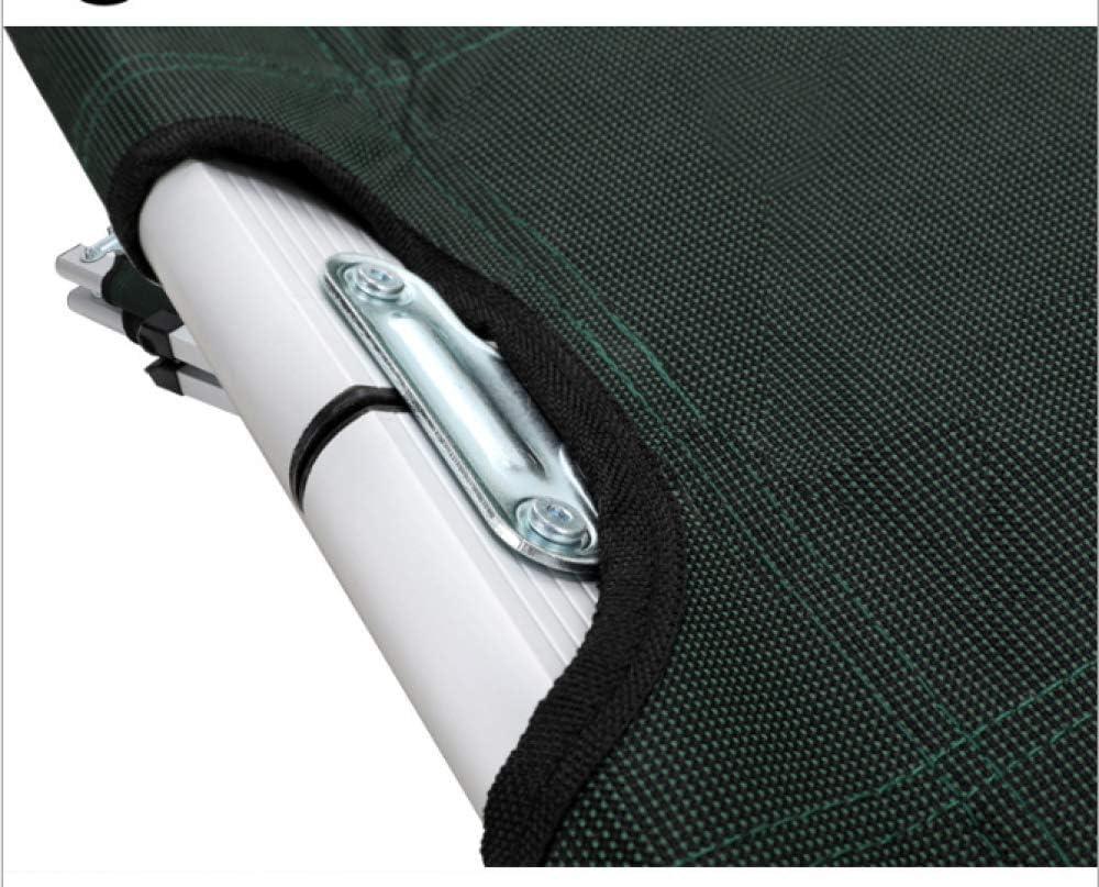 RNGNBKLS Brandina Camping Lettino Pieghevole Escursionismo Portatile Ultraleggero Lettini in Alluminio per Esterni Letto Singolo di Ricambio - H42 * W64 * L189cm,Black Black