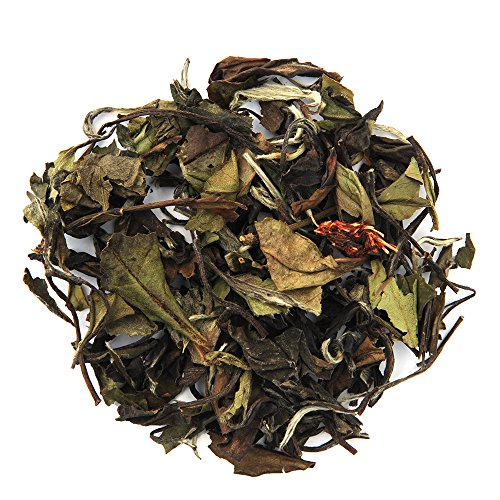Positively Tea Company, Organic White Champagne Raspberry, White Tea, Loose Leaf, USDA Organic, 1 Pound Bag