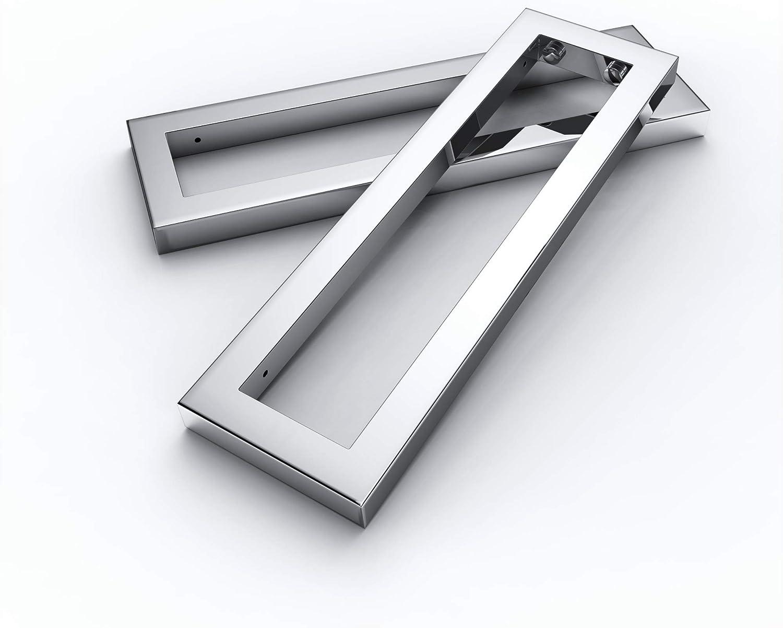 Juego de Consola de pared acero inoxidable 450x 150x 30mm lavabo lavabo Soporte para estantes Soporte para estante pared toallero konsolenhalterung PH22X 2