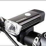 Sunspeed USB充電式LED自転車ヘッドライト CREE XPE搭載 4モード 防水 取り付け簡単 360°回転可能 強力省エネ フロントライト 自転車ライト