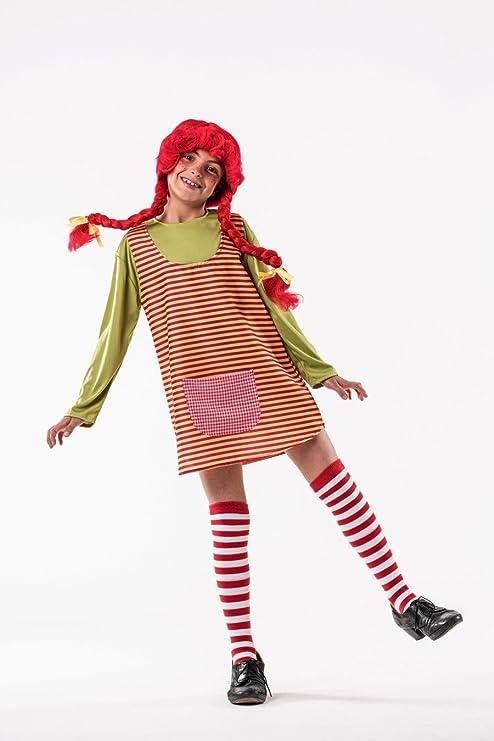 8a03b3bdc1b69 Costume da Pippi Calzelunghe a Righe per bambina A-(3 5 anni ...
