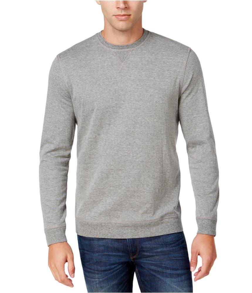 Tasso Elba Mens Suede Elbow Polo Sweater Grey 2XL