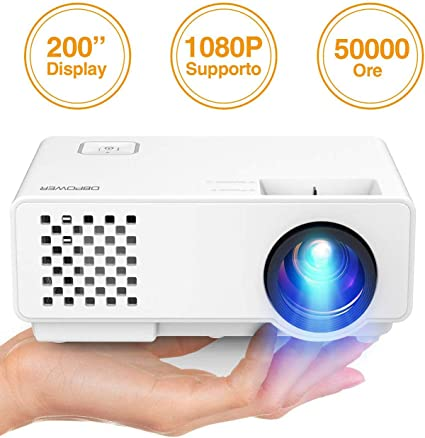 DBPOWER RD-810 1500 Lumens LCD Mini Proyector, Multimedia Home ...
