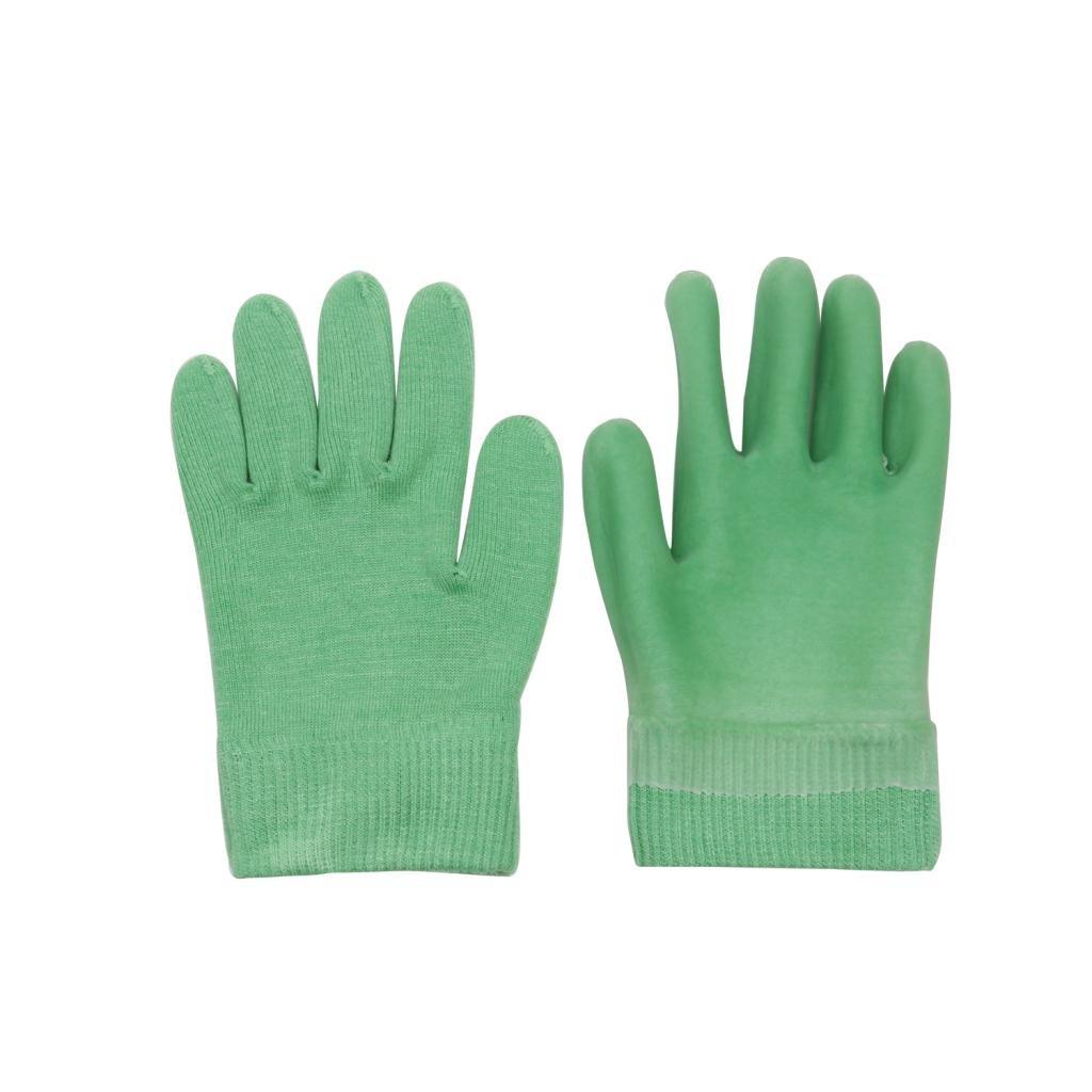 Homyl Spa Moisturize Gel Gloves For Dry Hands Soften Smoothen Cracked Skin Green