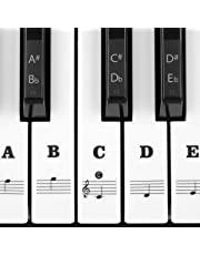 Piano Stickers for Keys, Syviva Piano Keyboard Stickers for 88/61/54/49/37 Full Set Black and White Key Stickers Removable for New Piano Learners and Kids - Black