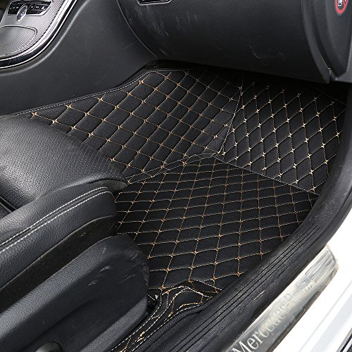 Worth mats custom fit luxury xpe leather waterproof floor for Leather flooring cost