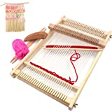 Wooden Multi-Craft Weaving Loom Large Frame 9.85x 15.75x 1.3inches to Handcraft for Kids
