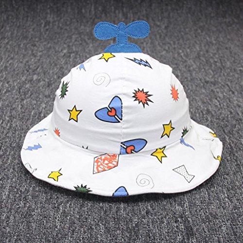 QUICKLYLY Sombrero del Sol de Bebés con Ala Tipo de Pescador Algodón Gorro  de Aire Libre 5deb3a6bad83