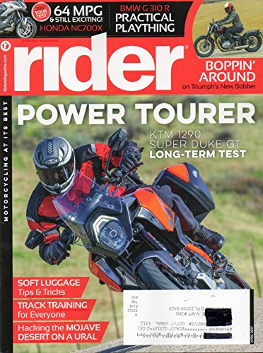 Rider Magazine 2017 Motorcycling At It's Best HACKING THE MOJAVE DESERT ON A URAL Triumph's New Bobber BMW G 310 R PRACTICAL ()