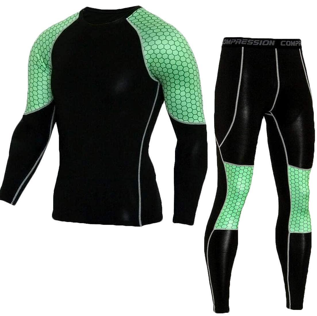 heymoney Men Sport Suit Sports Gym Pants Shirt Running Yoga Athletic Jogger Sweatpants Tops