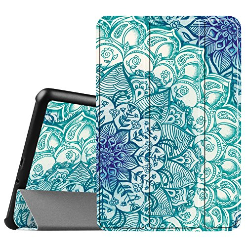 Fintie Samsung Galaxy Tab A 8.0 (2015) Slim Case, Ultra Lightweight Standing Cover Auto Sleep/Wake Compatible Galaxy Tab A 8.0 SM-T350/P350 2015 (NOT Fit 2017/2018 Version), Emerald Illusions