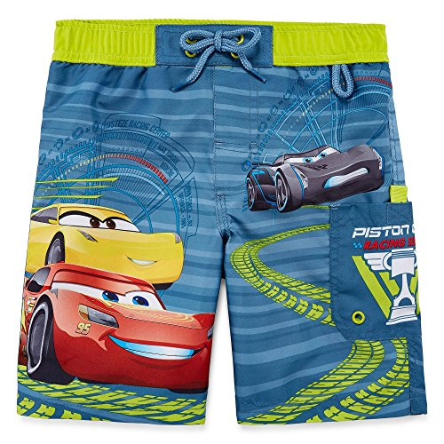 Disney Collection Cars Movie Boys Swim trunks features Jackson Storm & Lightning Mcqueen ...