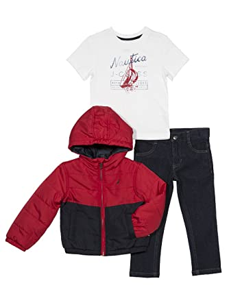 34ea21412 Amazon.com  Nautica Boys  Toddler Color Block Puffer Jacket