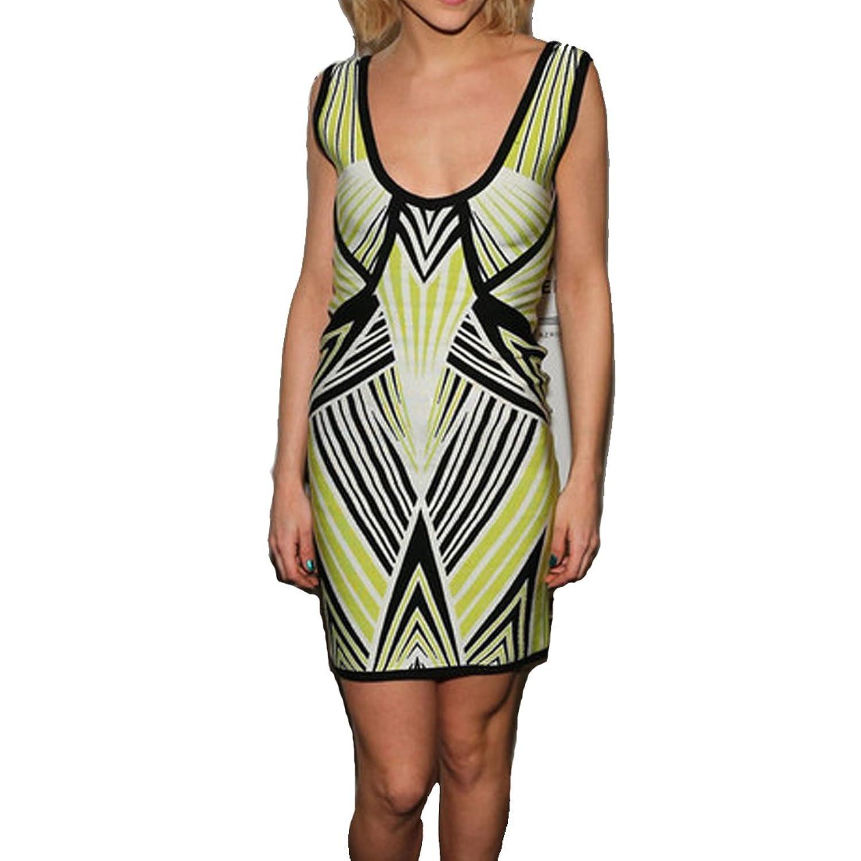 Hlbcbg New Women's Rayon Bandage Bodycon Dress Cocktail Dress 2073