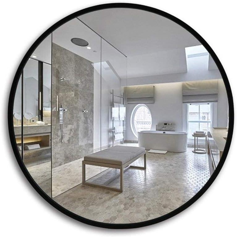 Giow Espejo Cuarto de baño, Estilo nórdico Simple, Borde de Madera, hogar, Pared, multifunción, vanidad (Color: Negro, tamaño: 70 cm): Amazon.es: Hogar