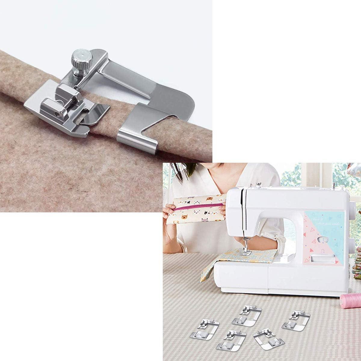 Prensatelas para Dobladillo Máquina de Coser,Tangger Prensatelas Máquina Coser Accesorios de Costura,6 Modelos,6PCS: Amazon.es: Hogar