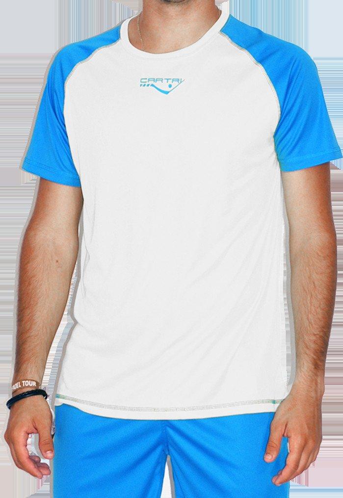 CARTRI - Camiseta/H Coach 2.0 White/Royal: Amazon.es ...