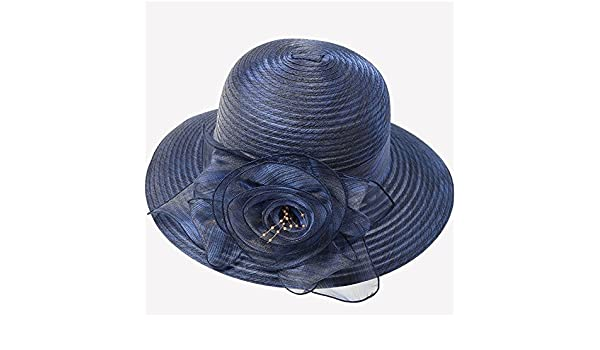 Mei XU Gorra Ancha para Mujer Cool Sun Protection Diseño Elegante de Flores  Visor Plegable UV Transpirable Gorra de Viaje y Ocio (4 Colores Opcionales)  ... aca7ad3c8b4