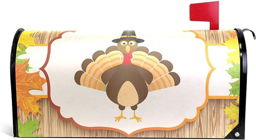 Gobble Til We Wobble Thanksgiving Magnetic Mailbox Cover Standard