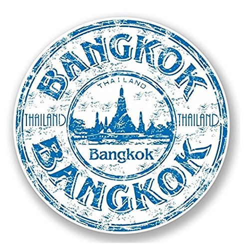 3 Pack - Bangkok Thailand Thai Vinyl SELF ADHESIVE STICKER Decal - Sticker Graphic - Construction Toolbox, Hardhat, Lunchbox, Helmet, Mechanic, Luggage