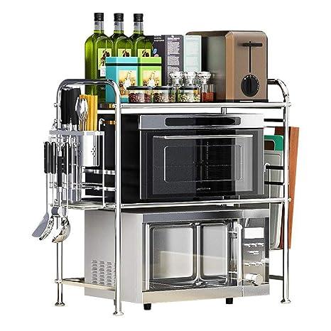 Amazon.com: XXFZDCP 304 Estante de cocina de acero ...