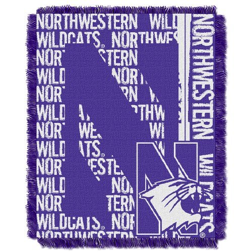 Wildcats Northwestern Football University - Officially Licensed NCAA Northwestern Wildcats Double Play Jacquard Throw Blanket, 48