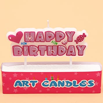 lukalook 13 pcs happy birthday letter candles toothpick cake cute candle kids party decoration 05