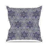 Kess InHouse Laura Nicholson Star Power Blue Geometric Outdoor Throw Pillow, 16'' x 16''
