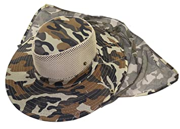 ef2c455b4 Eforstore Mesh Military Camouflage Bucket Hat with Anti-Mosquito ...