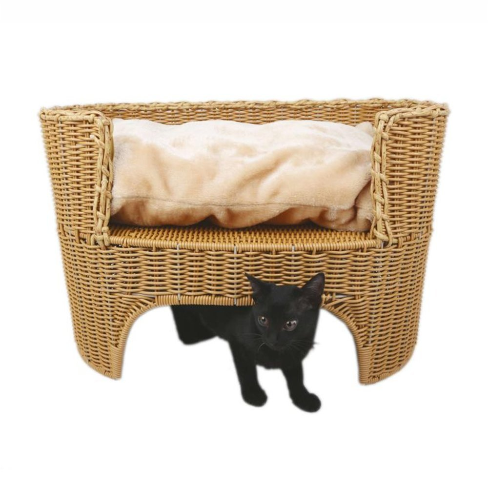 Rattan Cat Bed Cat House Pet Bed Pet Lounge Pet Furniture Four Seasons General Easy To Clean Cat And Dog Pet Supplies