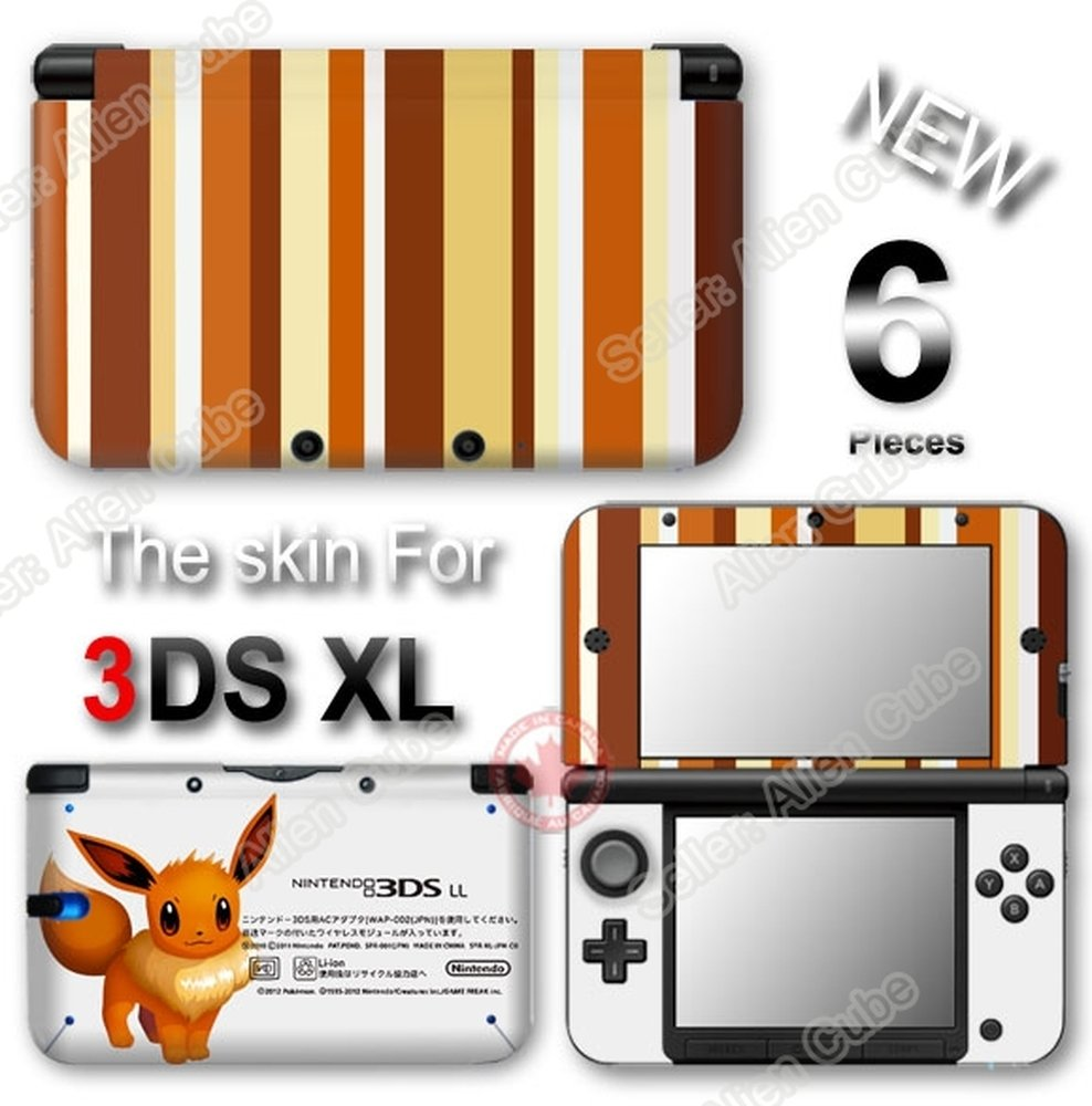 Pokemon Eevee Classic Edition Vinyl Skin Sticker Decal Cover for Original Nintendo 3DS XL