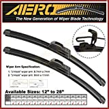 AERO 13 + 13 OEM Quality All Season Beam Windshield Wiper Blades (Set of 2)