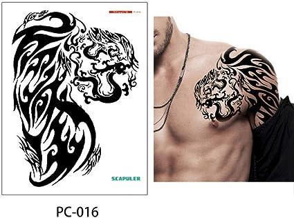 Gran hombro medio brazo tatuaje grapas pegatina dragón temporal ...