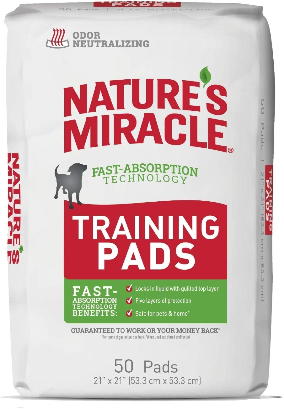 Nature's Miracle Puppy Training Pads with Fast Absorption Technology