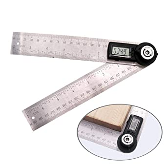 Amazon.com: Teepao - Regla de metal con protractor de 14.173 ...