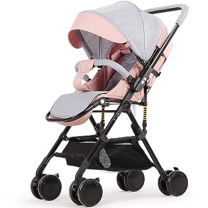 El cochecito de bebé, el carrito para niños de gran altura, se puede sentar